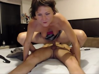 milf MILF rides cock, lets her guy taste cum from her mouth - Live Sex Chat - rides