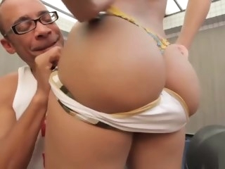 posh Posh booty shemale gets real monster cock booty