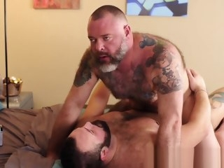 bear Bear stud takes a dick inside of his tight little butt hole stud