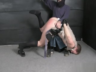 bound Cop bound gagged stripped spanked and humiliated. gagged