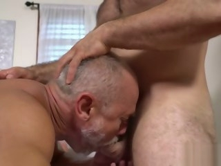gay Old gay with cock rings gets happy ending massage cock