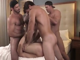 group Group of hot muscle dudes plow hard tied up guys asshole muscle