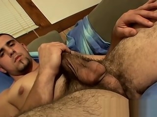 hairy Hairy straight amateur plays with his cock and cums straight