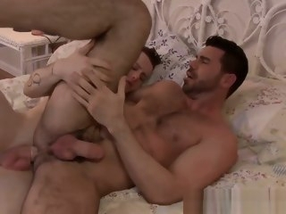 horny Horny Billy gets hammered with Colton cock in the bedroom billy